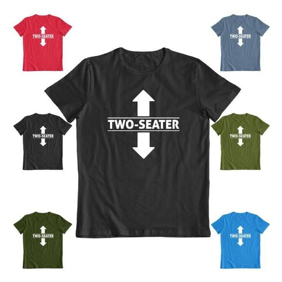 "Daily Steals-""Two Seater"" Funny T-shirt-Men's Apparel-Black-S-"