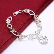 Two Tone Bracelet Plated in 18K White Gold-Daily Steals