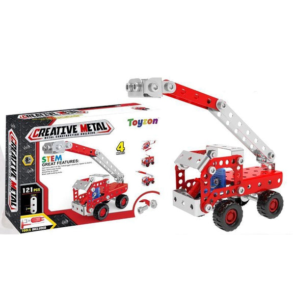 Creative Metal Build Your Own Vehicle Kit STEM Toy-Fire-Daily Steals