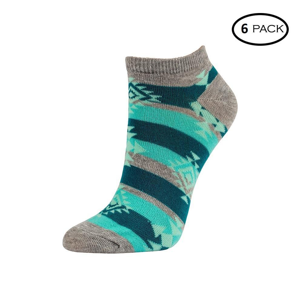 Unibasic Fun Comfy Wear Cute Prints Women's Soft No Show Socks - 6 or 12 Pairs-Grey Arrows-Pack of 6-Daily Steals