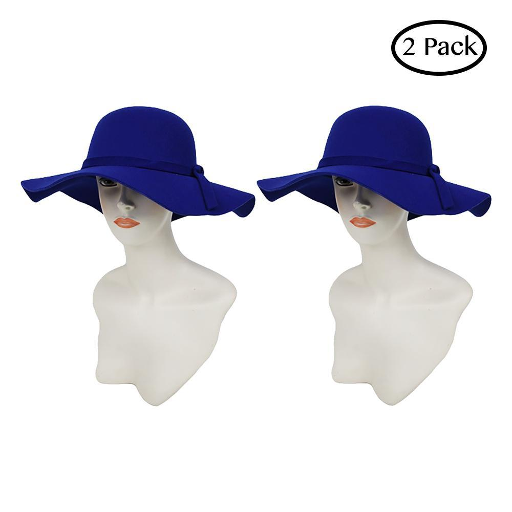 Fashion and Functional Wear Soft Comfy Vegan Hat Collection-Purple-Floppy-2 Pack-Daily Steals