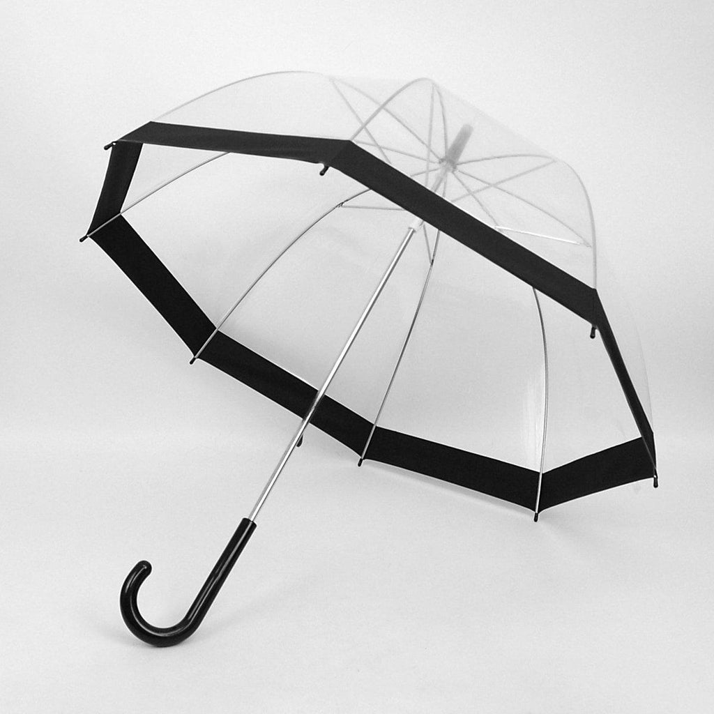 See-Thru-Bubble Wind-Resistant Premium Clear Umbrella with Color Border-Daily Steals