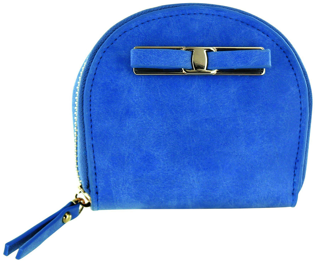 Daily Steals-Zip-Around Curved Closure Wallet with Four Card Slots-Accessories-Blue-1 pack-