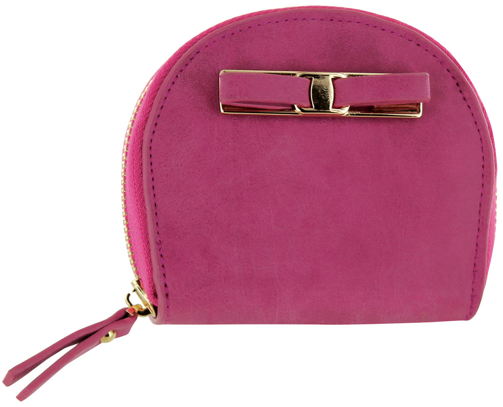 Daily Steals-Zip-Around Curved Closure Wallet with Four Card Slots-Accessories-Pink-1 pack-
