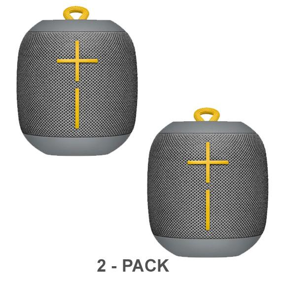 Daily Steals-Ultimate Ears WONDERBOOM Portable Waterproof Bluetooth Speaker - 2-Pack-Speakers (refurbished)-Stone Gray-