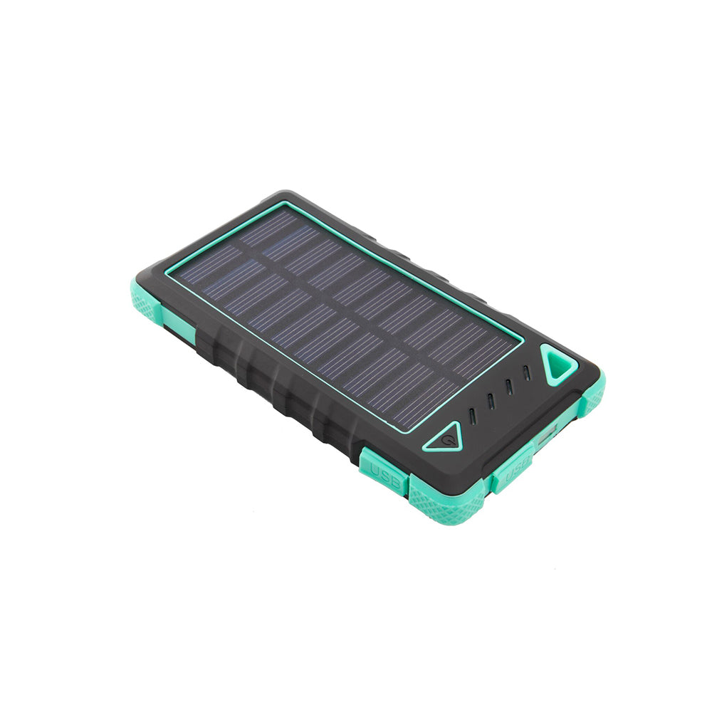 Ultra-Compact High-Speed 8,000mAh Portable Solar Smartphone Charger with LED Flashlight-Lime Green-Daily Steals