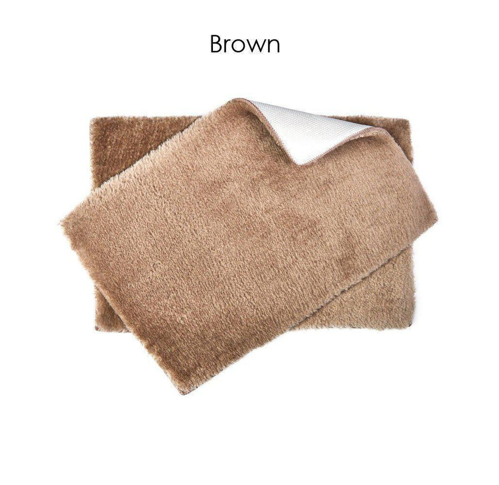 "Daily Steals-Ultra Plush Bath Rug Set with Non-Skid Backing - 6 Colors-Home and Office Essentials-Brown-17"" x 24"" - 1 Pack-"