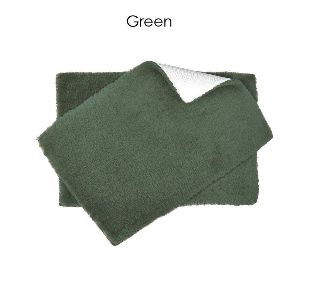 "Daily Steals-Ultra Plush Bath Rug Set with Non-Skid Backing - 6 Colors-Home and Office Essentials-Green-17"" x 24"" - 1 Pack-"