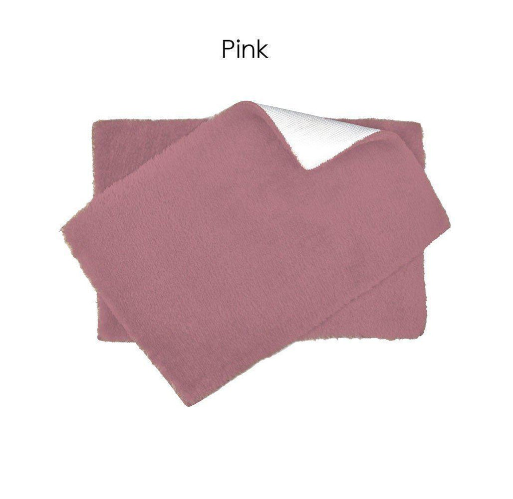 "Daily Steals-Ultra Plush Bath Rug Set with Non-Skid Backing - 6 Colors-Home and Office Essentials-Pink-17"" x 24"" - 1 Pack-"