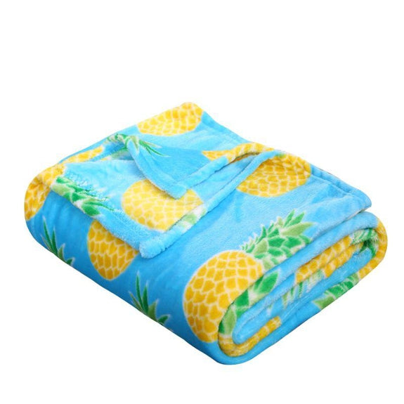 "Ultra Soft Microplush Holiday Throw Blanket 50"" X 60""-PINEAPPLE-"
