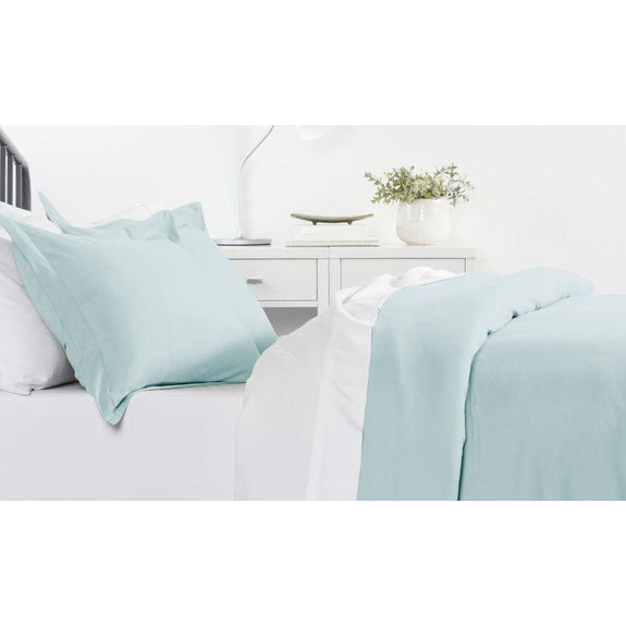 Ultra-Soft Solid Duvet Cover Sets - 2 or 3 Piece-Aqua-Twin/Twin Extra Long-Daily Steals
