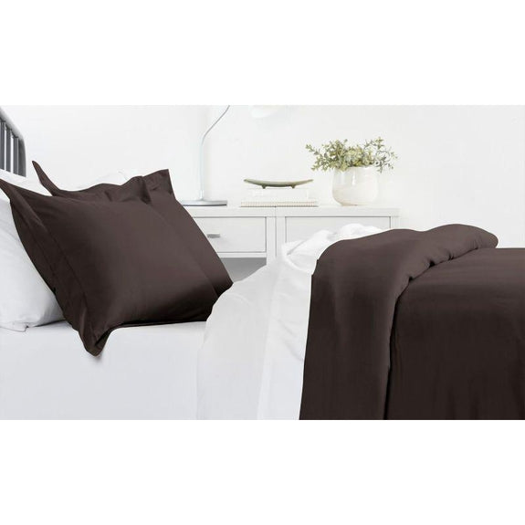 Ultra-Soft Solid Duvet Cover Sets - 2 or 3 Piece-Chocolate-Twin/Twin Extra Long-Daily Steals