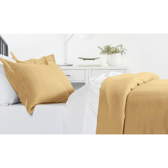 Ultra-Soft Solid Duvet Cover Sets - 2 or 3 Piece-Gold-Twin/Twin Extra Long-Daily Steals