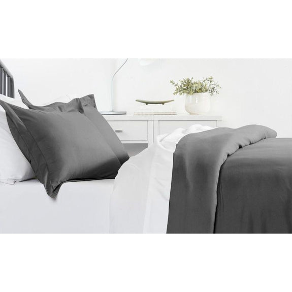 Ultra-Soft Solid Duvet Cover Sets - 2 or 3 Piece-Gray-King/California King-Daily Steals