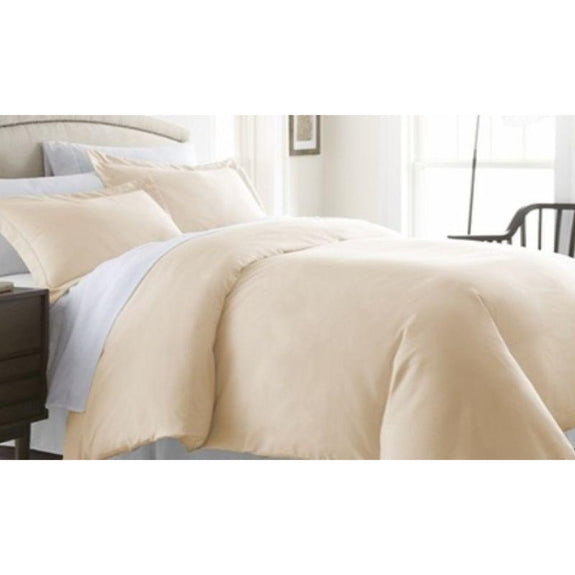 Ultra-Soft Solid Duvet Cover Sets - 2 or 3 Piece-Ivory-Full/Queen-Daily Steals