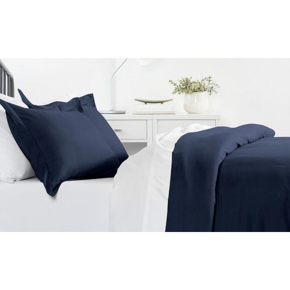 Ultra-Soft Solid Duvet Cover Sets - 2 or 3 Piece-Navy-Twin/Twin Extra Long-Daily Steals