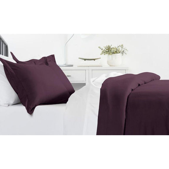 Ultra-Soft Solid Duvet Cover Sets - 2 or 3 Piece-Purple-King/California King-Daily Steals