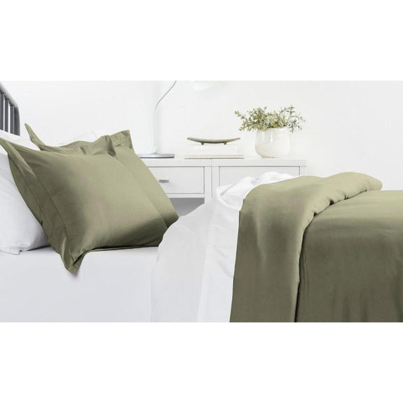 Ultra-Soft Solid Duvet Cover Sets - 2 or 3 Piece-Sage-Full/Queen-Daily Steals