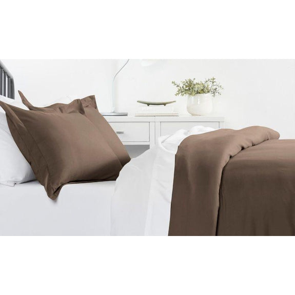 Ultra-Soft Solid Duvet Cover Sets - 2 or 3 Piece-Taupe-King/California King-Daily Steals