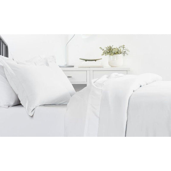 Ultra-Soft Solid Duvet Cover Sets - 2 or 3 Piece-White-Twin/Twin Extra Long-Daily Steals