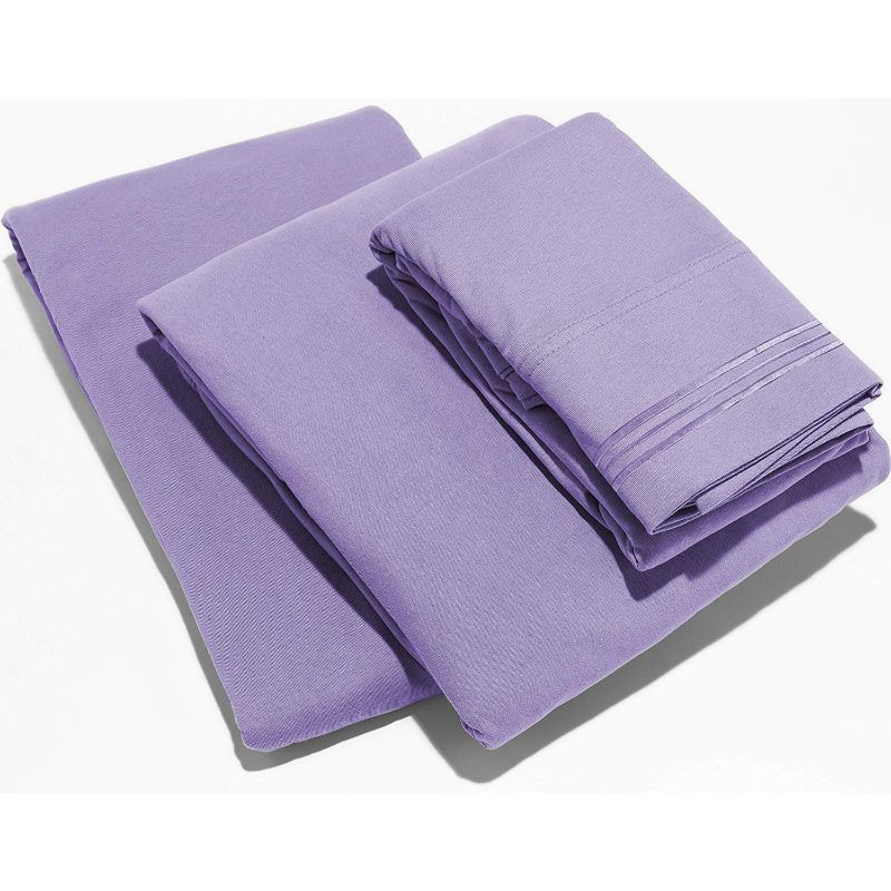 UltraSoft Egyptian Comfort Deep Pocket Brushed 1800 Series Sheets - 4 Piece-Lavender-Twin-Daily Steals