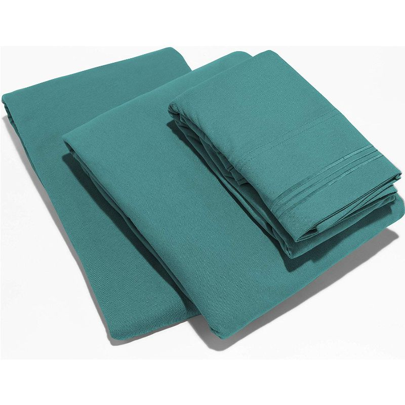 UltraSoft Egyptian Comfort Deep Pocket Brushed 1800 Series Sheets - 4 Piece-Teal-Twin-Daily Steals