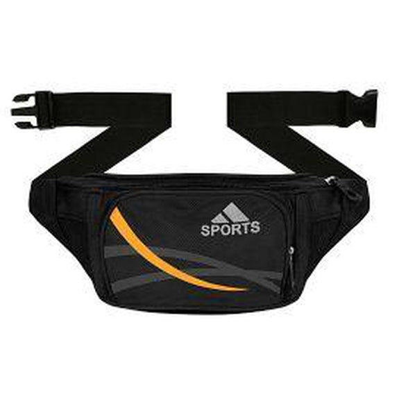 Ultra Slim Expandable Waist Fanny Pack-Black-Daily Steals