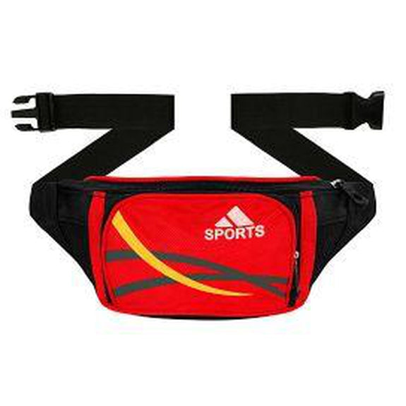 Ultra Slim Expandable Waist Fanny Pack-Red-Daily Steals
