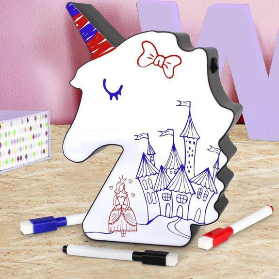 Unicorn LED Light up White Board Messaging Sign-