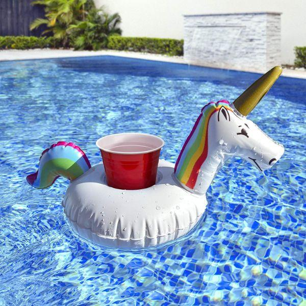 Daily Steals-Unicorn Pool Drink Holder Float - 6 Pack-Outdoors and Tactical-