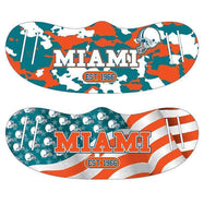 Unisex Camo and USA Flag Football Reusable Fabric Face Masks - 2 Pack-Miami-