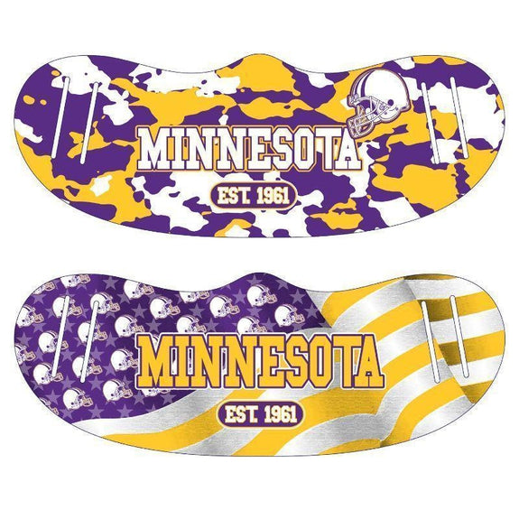 Unisex Camo and USA Flag Football Reusable Fabric Face Masks - 2 Pack-Minnesota-