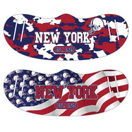 Unisex Camo and USA Flag Football Reusable Fabric Face Masks - 2 Pack-New York-
