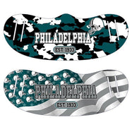 Unisex Camo and USA Flag Football Reusable Fabric Face Masks - 2 Pack-Philadelphia-