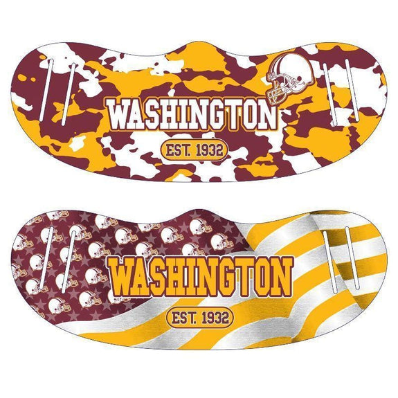 Unisex Camo and USA Flag Football Reusable Fabric Face Masks - 2 Pack-Washington-