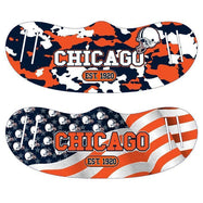 Unisex Camo and USA Flag Football Reusable Fabric Face Masks - 2 Pack-Chicago-