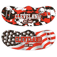 Unisex Camo and USA Flag Football Reusable Fabric Face Masks - 2 Pack-Cleveland-