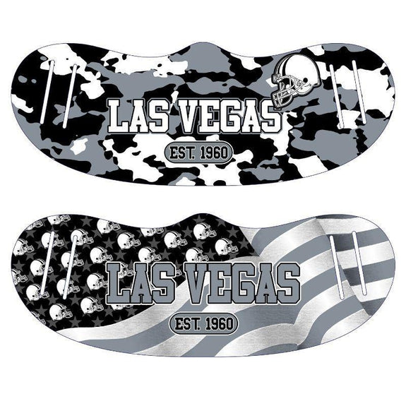 Unisex Camo and USA Flag Football Reusable Fabric Face Masks - 2 Pack-Las Vegas-