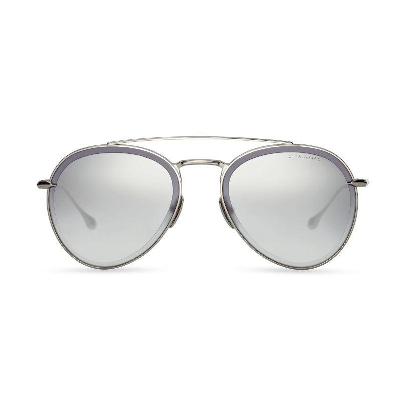 Unisex DITA Sunglasses - Axial Silver, Dark Grey to Clear, Silver Flash-Daily Steals