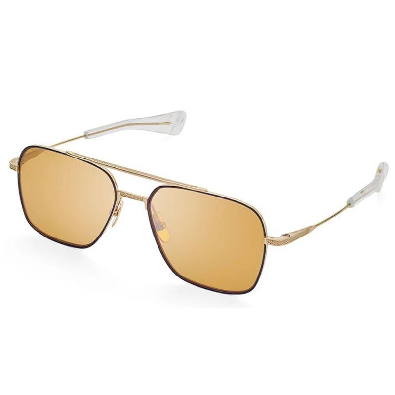 Unisex DITA Sunglasses - Flight-Seven Gold Black Enamel Brown Polarized-Daily Steals