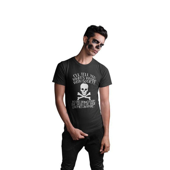 Unisex Funny Halloween Costume T Shirt-S-Wrong With Society-
