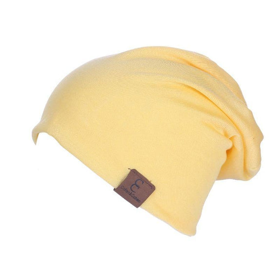 Unisexe Slouch CC Chic Winter Beanie-Yellow-Daily Steals