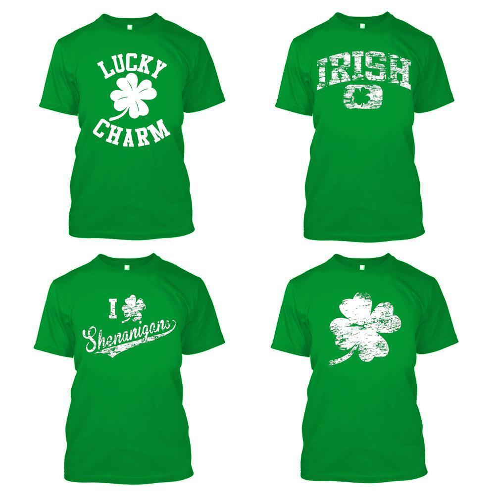 Daily Steals-Unisex St. Patricks Day T-Shirt - 100% Cotton - 4 Styles Available-Men's Apparel-S-Lucky Charm-