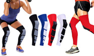 Unisex Full-Length Knee and Calf Compression Sleeves - 2 Pack-Daily Steals