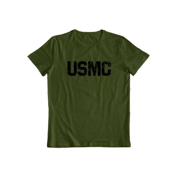 United States Marine Corps T-Shirt-Forest Green-S-Daily Steals