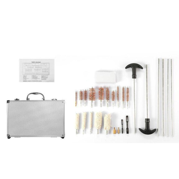 Universal Gun Cleaning Kit with Aluminum Carrying Case - 126 Piece-