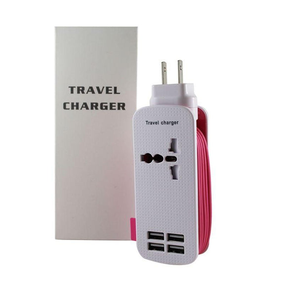 Universal Travel Charger-Pink-