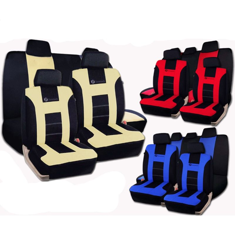 Universal Full Set Car Seat Covers Racing Style-Daily Steals