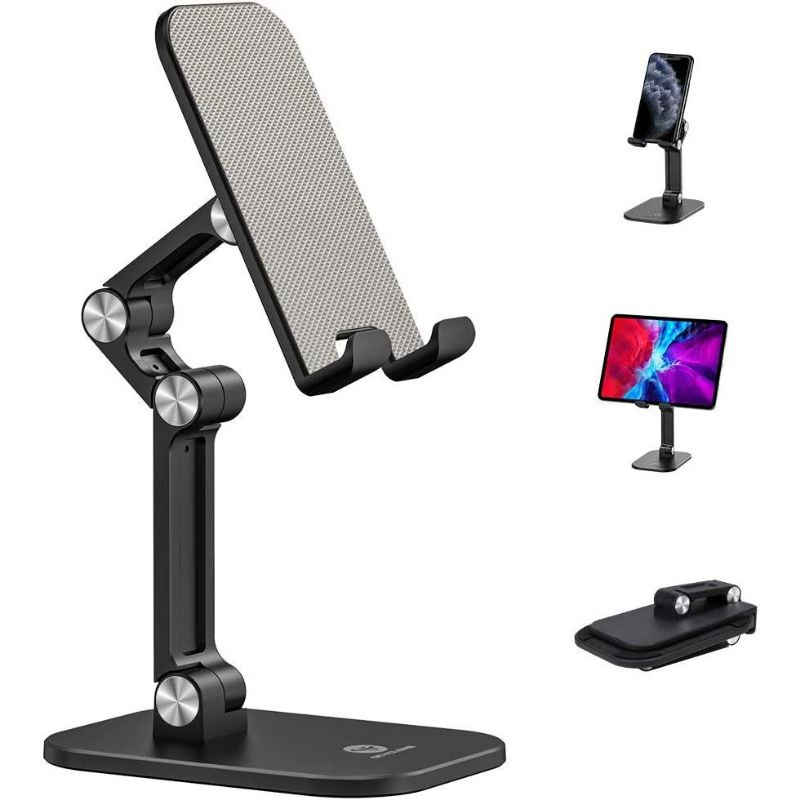 Universal Strong Adjustable Foldable Phone or Tablet Stand Holder - 1 or 2 Pack
