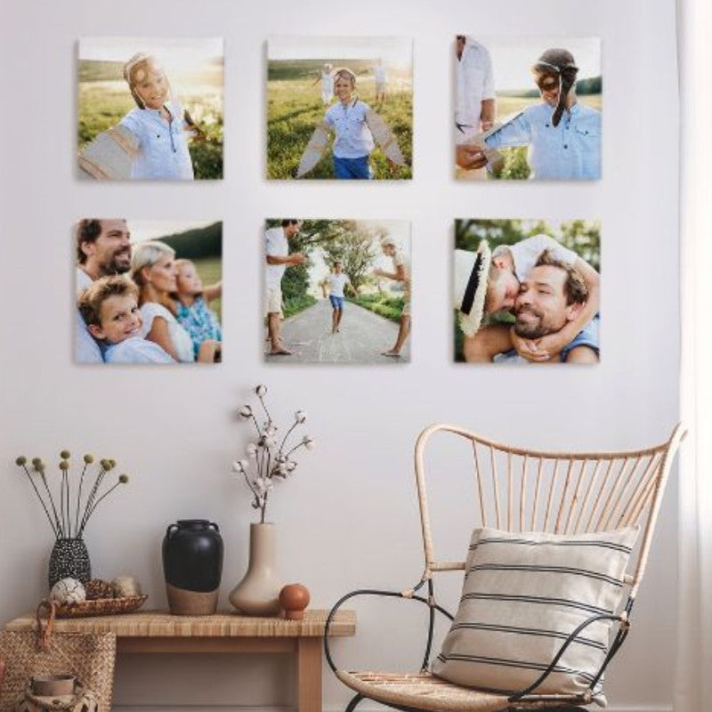 Personalized Photo to Canvas, 10x10 inches - 4 Pack-Daily Steals